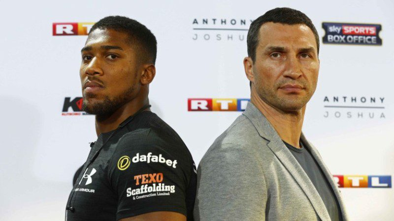 Anthony Joshua [Left], Wladimir Klitschko [Right]