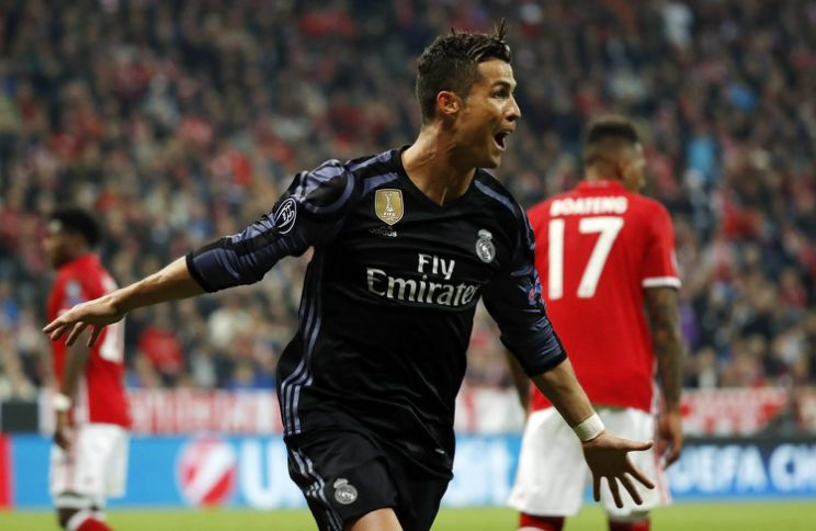 Cristiano Ronaldo on cloud nine after scoring an incredible 100th UEFA club competition's goal