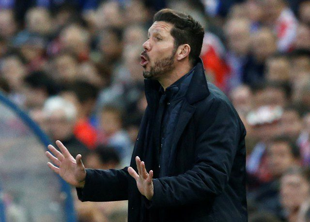 Diego Simeone asking his players to take it cool