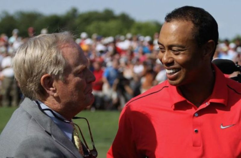 Tiger Woods and Jack Niklaus back in 2012