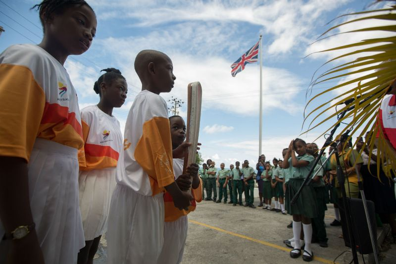 The Queen's Baton at Government House