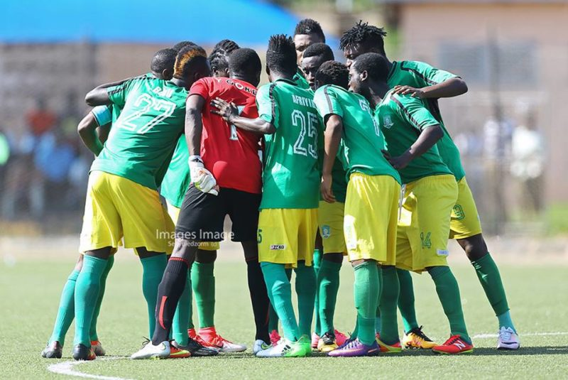 Aduana Stars seeking for the face of God before kick of - PHOTO by Images Image