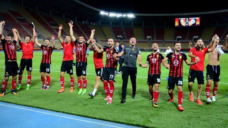 Vardar celebrates their victory