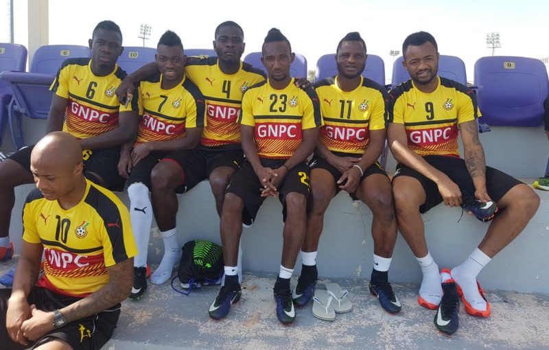 Wakaso [No. 11] and his Black Stars colleagues at the 2017 AFCON