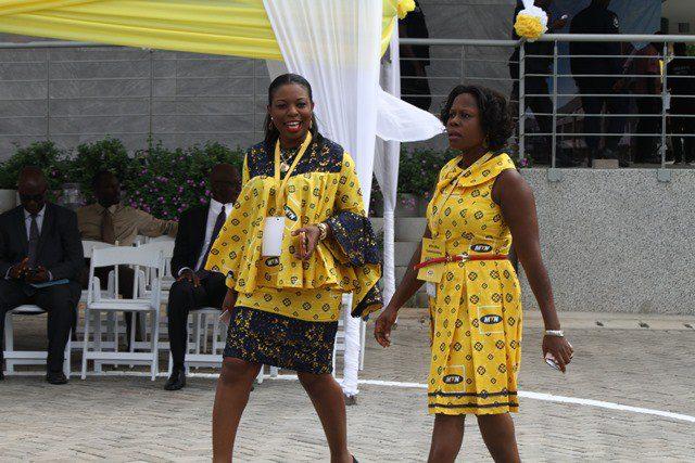 Ama Bennah-Amponsah [Head of Human Resource, MTN Ghana],left