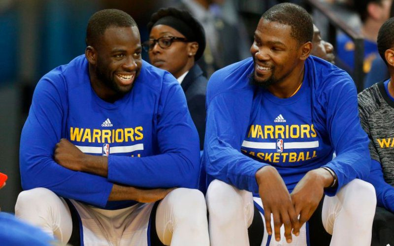 Draymond Green and Kevin Durant