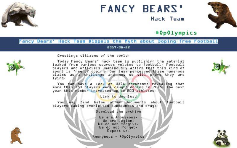 Fancy Bears' Hack Group [2010 FIFA World Cup Leaks]