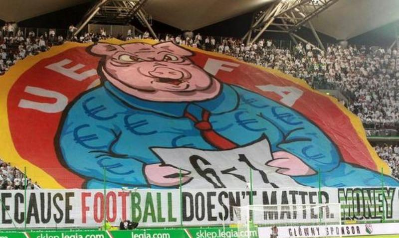 'The Pig Banner' that attracted Legia Warsaw fine