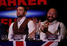 Hughie Fury at press briefing with his cousin, Tyson Fury