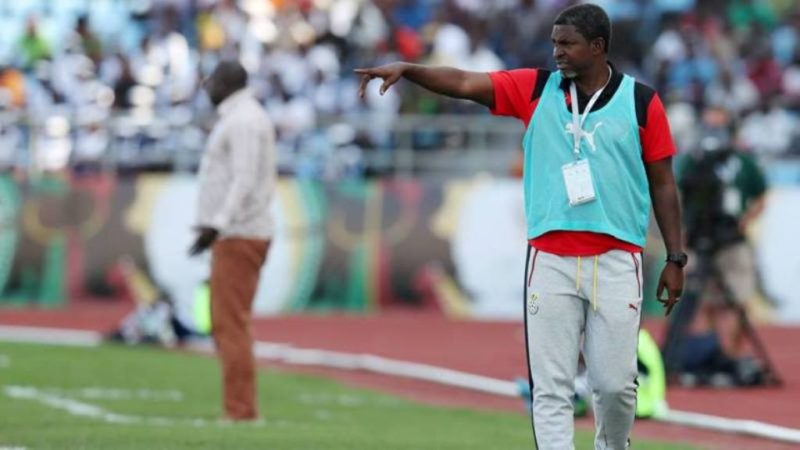 Coach Maxwell Konadu directing affairs from the touchline