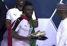Stephen Sarfo wins the Golden Boot Award of the 2017 WAFU Cup of Nations