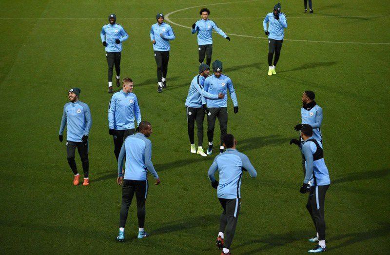 Man City at training