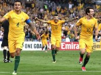 Tim Cahill of Australia celebrates after scoring his teams second goal