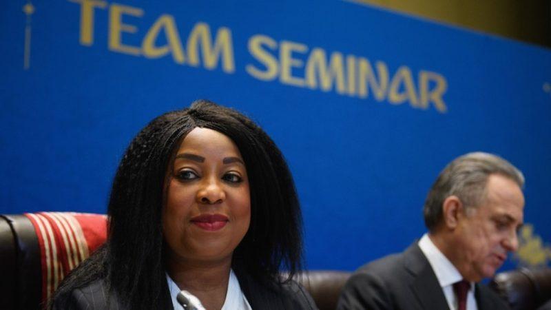 Fatma Samoura, Secretary General of FIFA and Vitaly Mutko (LOC Chairman)