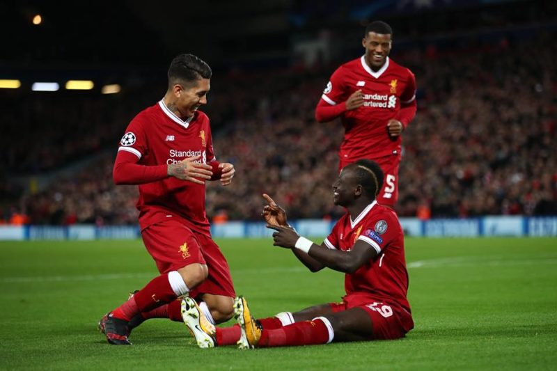 Firmino joins Sadio Mane to celebrates