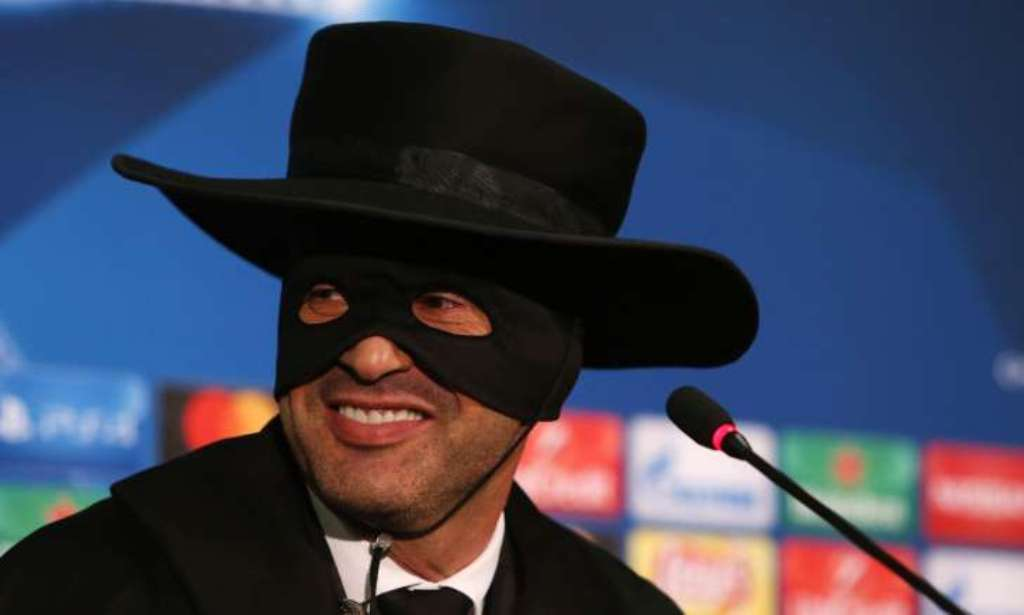 Paulo Fonseca dressed as Zorro after Shakhtar's win over Man City