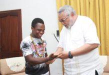 President Rawlings receives Isaac Dogboe