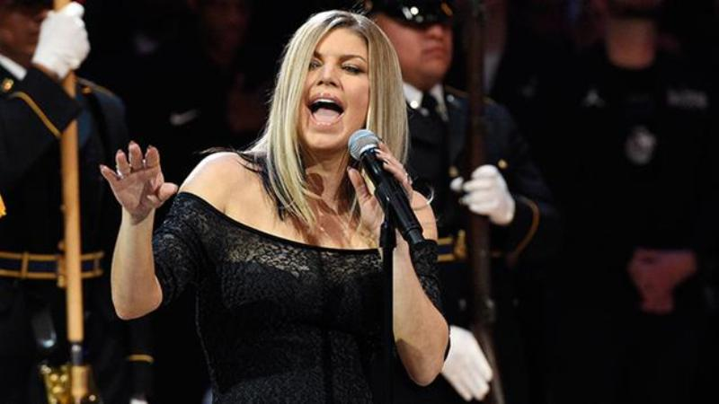 Fergie's national anthem performance