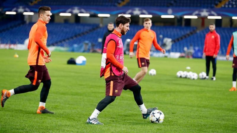 Lionel Messi leading the park