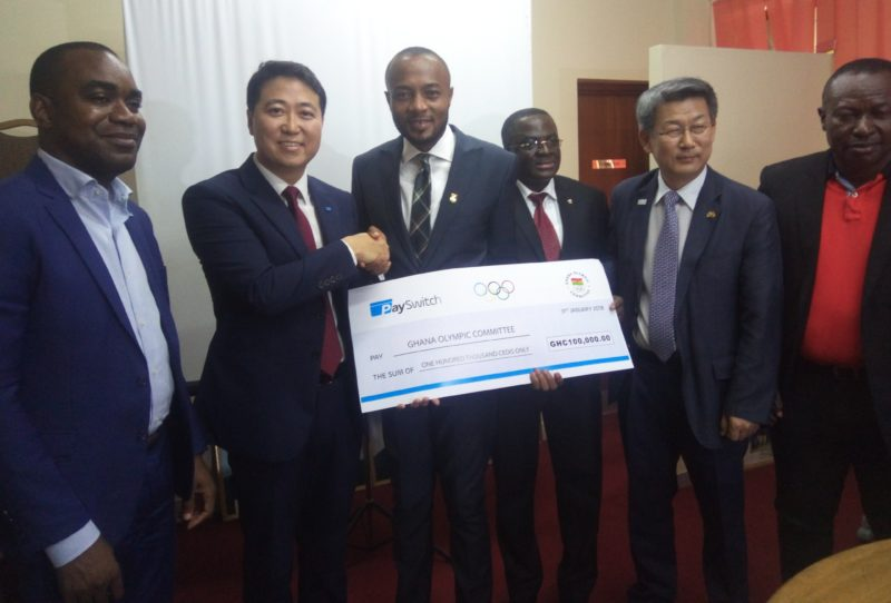 PaySwitch gives to Ghana Olympic Committee