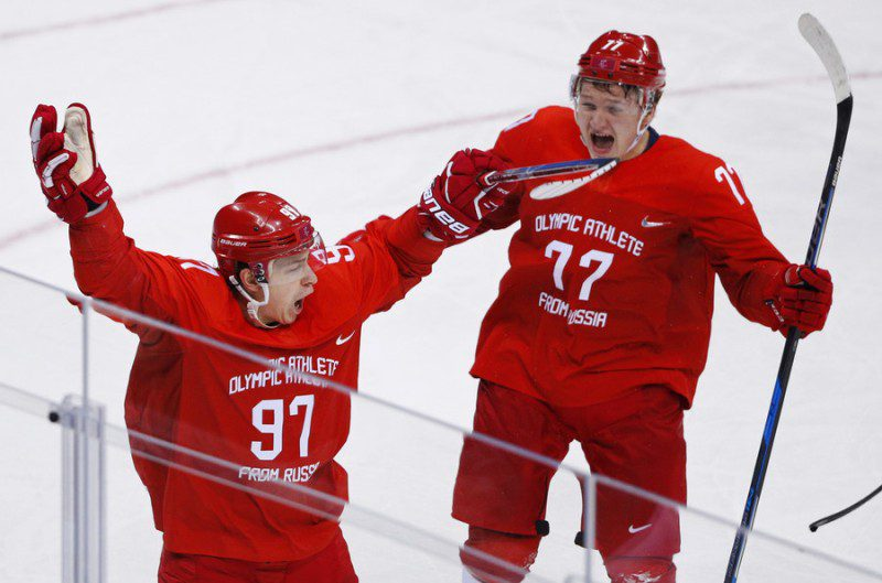 Russia ice hockey team beats Germany