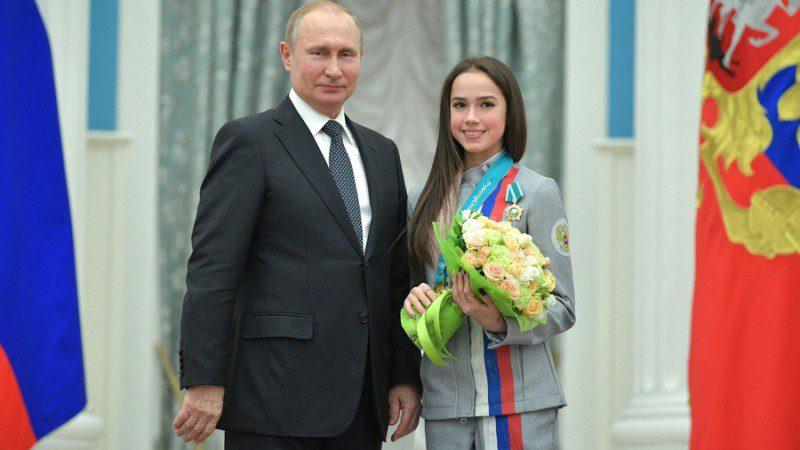 Alina Zagitova and President Putin