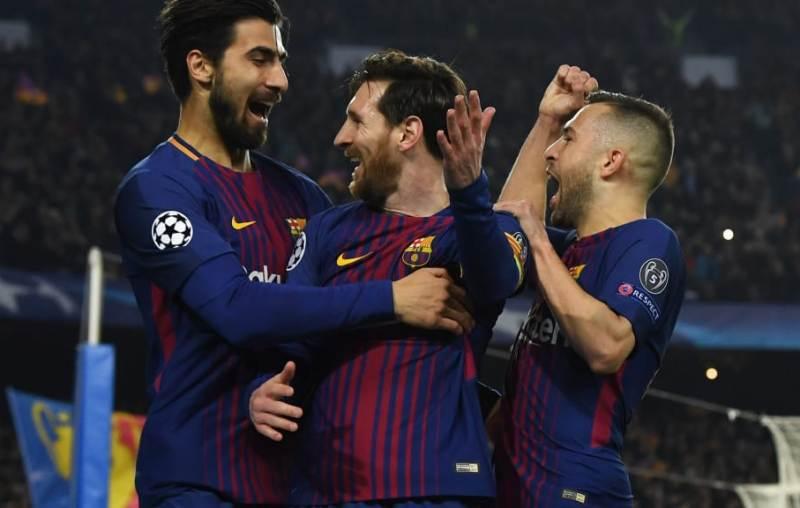 Barcelona celebrate a convincing victory