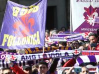 Fans gather ahead of a funeral service for Davide Astori on March 8, 2018 in Florence