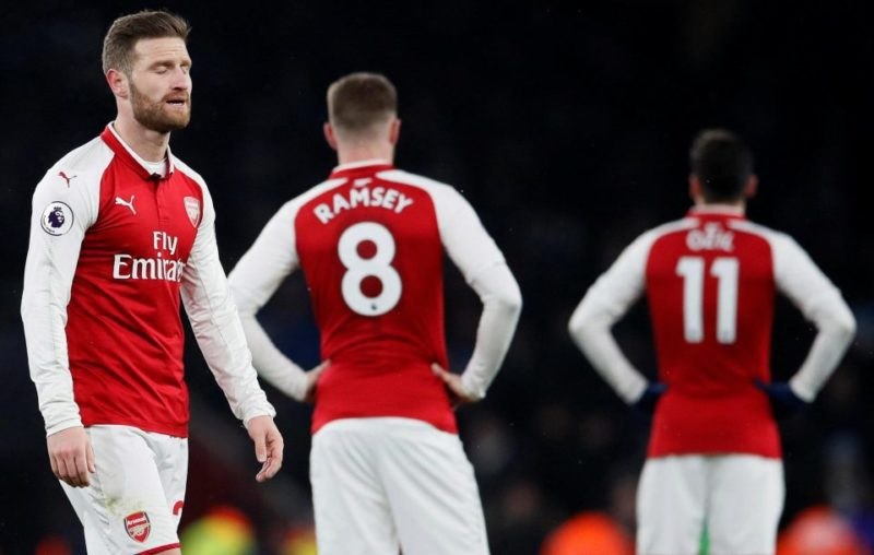 Same again for Arsenal as they follow up a Wembley mauling with a first-half collapse at the Emirates
