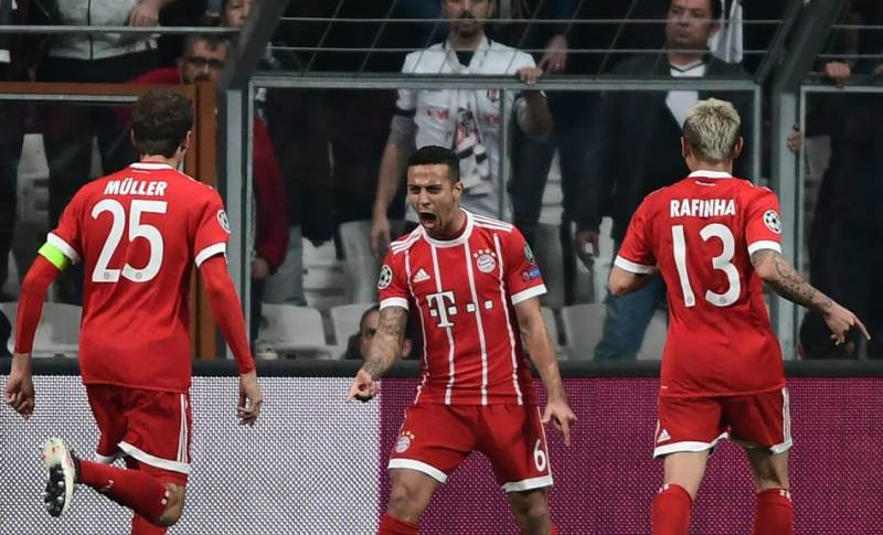 Thiago Alcantara opens the scoring