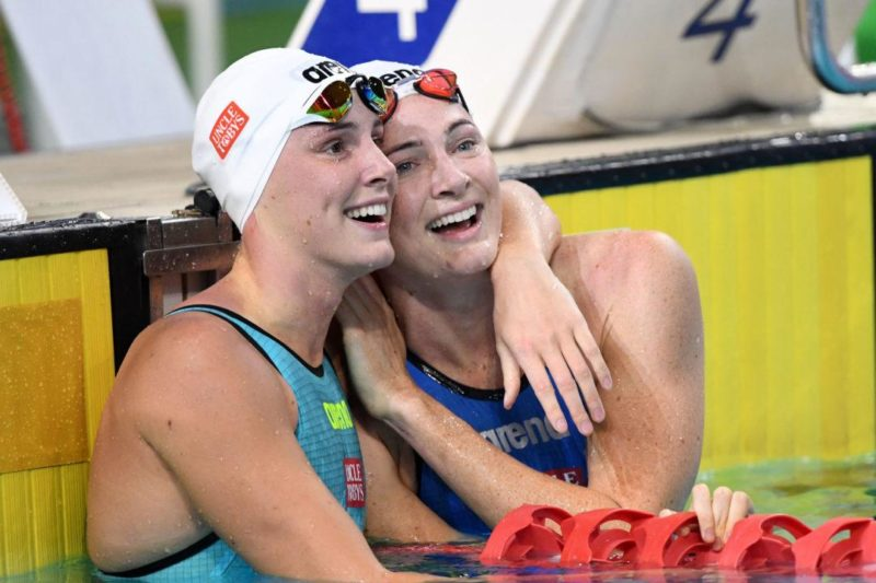 Bronte Campbell (left) being in her older sister's shadow finally died with Monday's win in the 100 freestyle