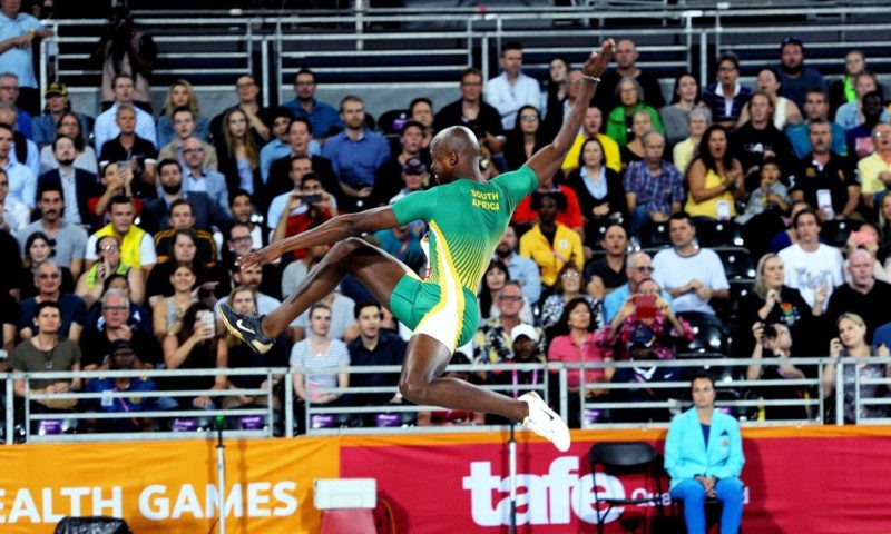 Luvo Manyonga's leap to glory on the Gold Coast