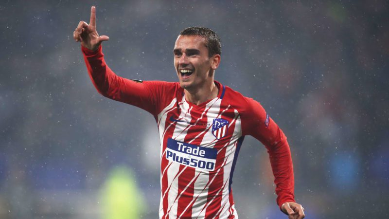 Antoine Griezmann of Atletico Madrid celebrates