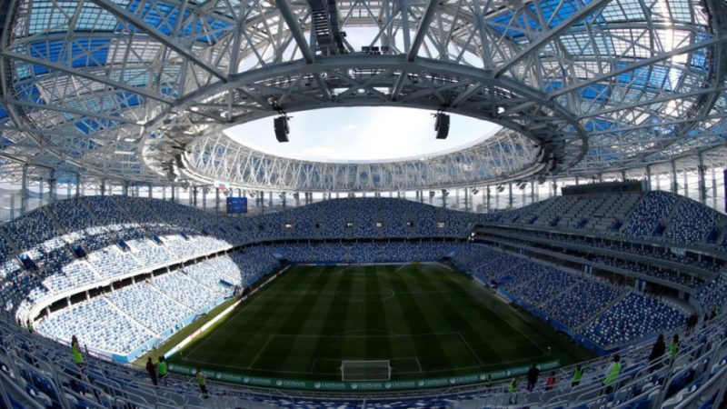 Arean view of the Nizhny Novgorod Stadium [One of the venues for the Russia 2018 FIFA World Cup]