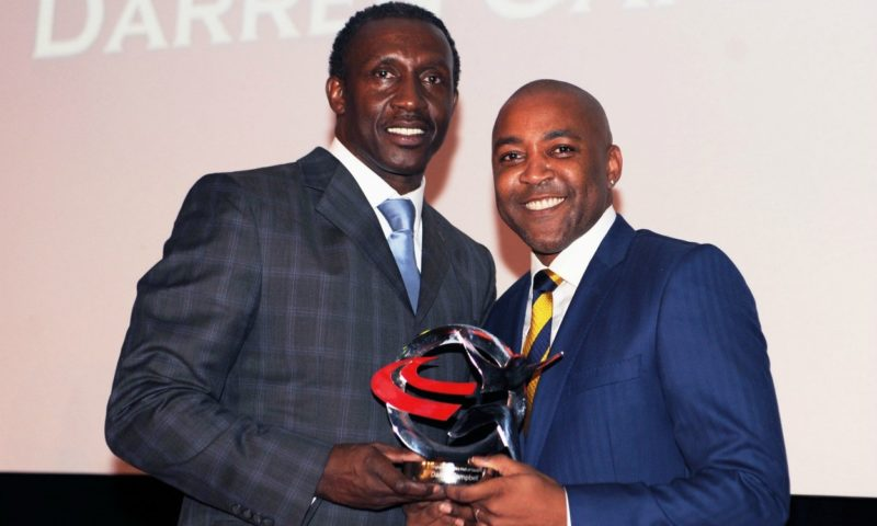 Darren Campbell [right] with Linsford Christie
