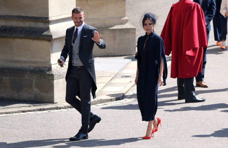 David Beckham at the Royal wedding