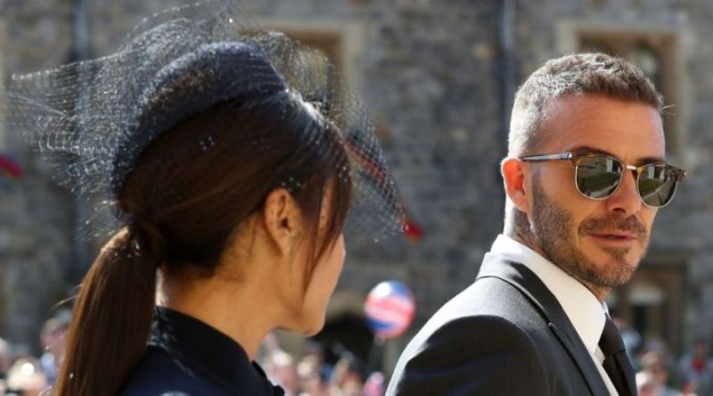 David Beckham at the Royal wedding
