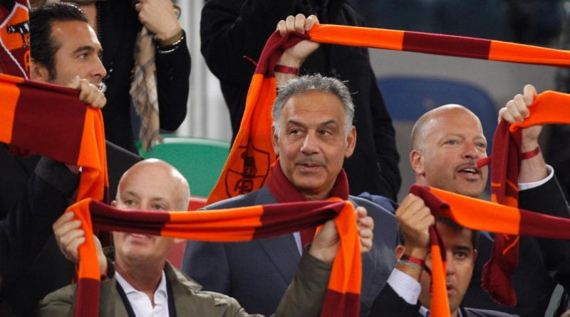 James Pallotta [AS Roma President] in the stands
