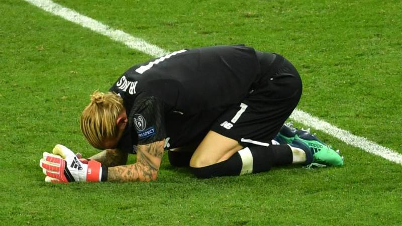Karius in tears