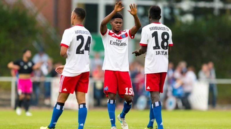 Ghanaian midfielder Moritz-Broni Kwarteng scores in Hamburg defeat to Wolfsburg in Germany's Regionalliga
