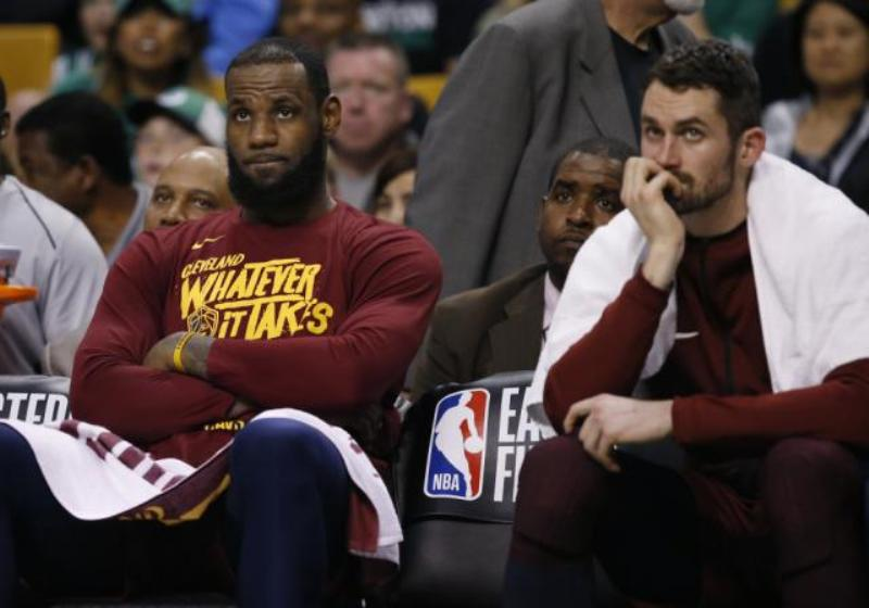 Not much went right for LeBron James and Kevin Love on Sunday