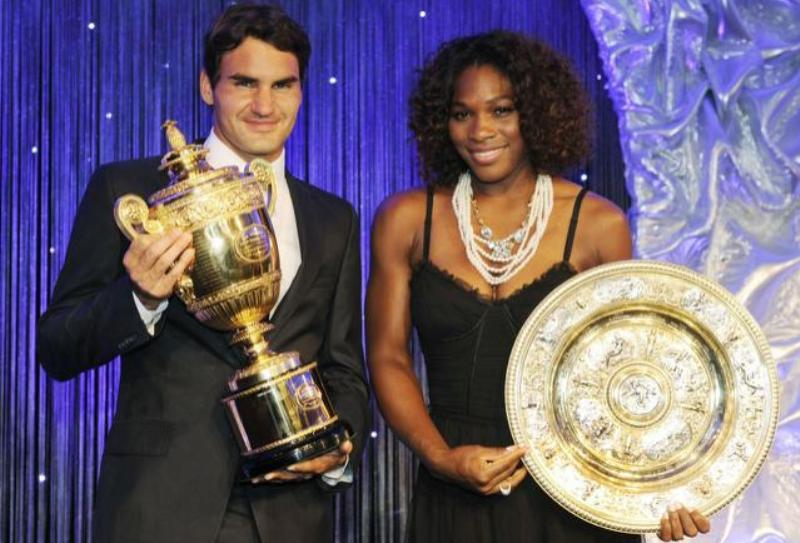 Roger Federer and Serena Williams in 2012