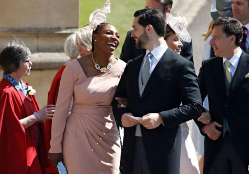 Serena Williams and her husband at the Royal Wedding