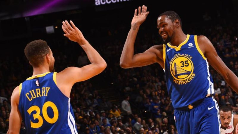 Steph Curry and Kevin Durrant shakes off their stress