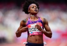 Elaine Thompson beat Shelly-Ann Fraser-Pryce to the line