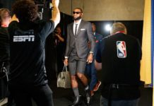LeBron James wore flawless suit with shorts to NBA Finals