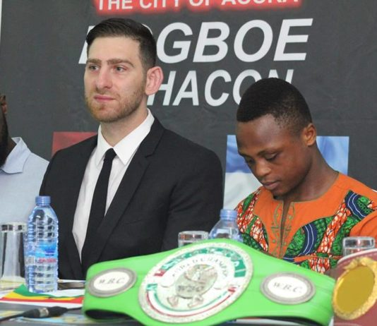 Mike Altamura with Isaac Dogboe
