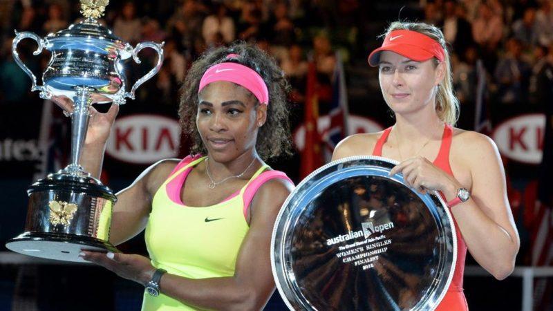 Serena Williams [left]