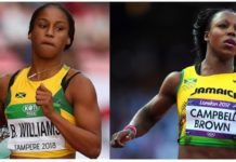 Briana Williams and Veronica Campbell-Brown