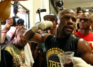 Media Day at the gym with Floyd Mayweather Jr.